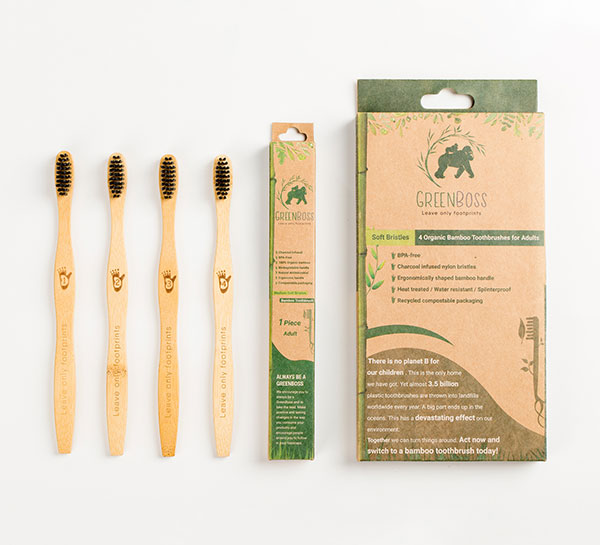 GreenBoss Bamboo Toothbrush